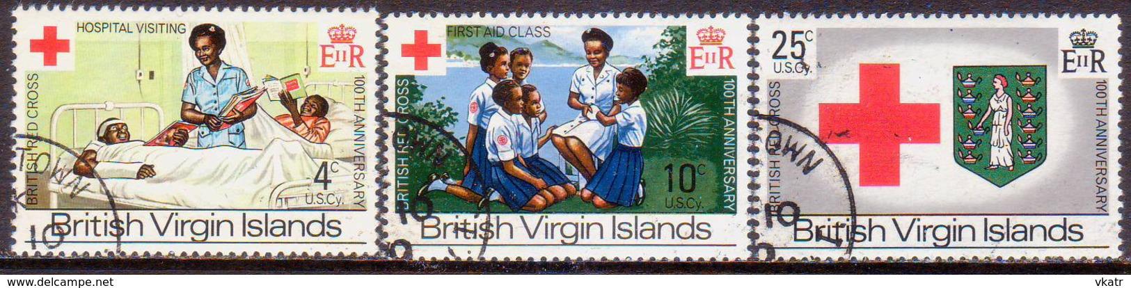 BRITISH VIRGIN ISLANDS 1970 SG 260-62 Compl.set Used British Red Cross - British Virgin Islands