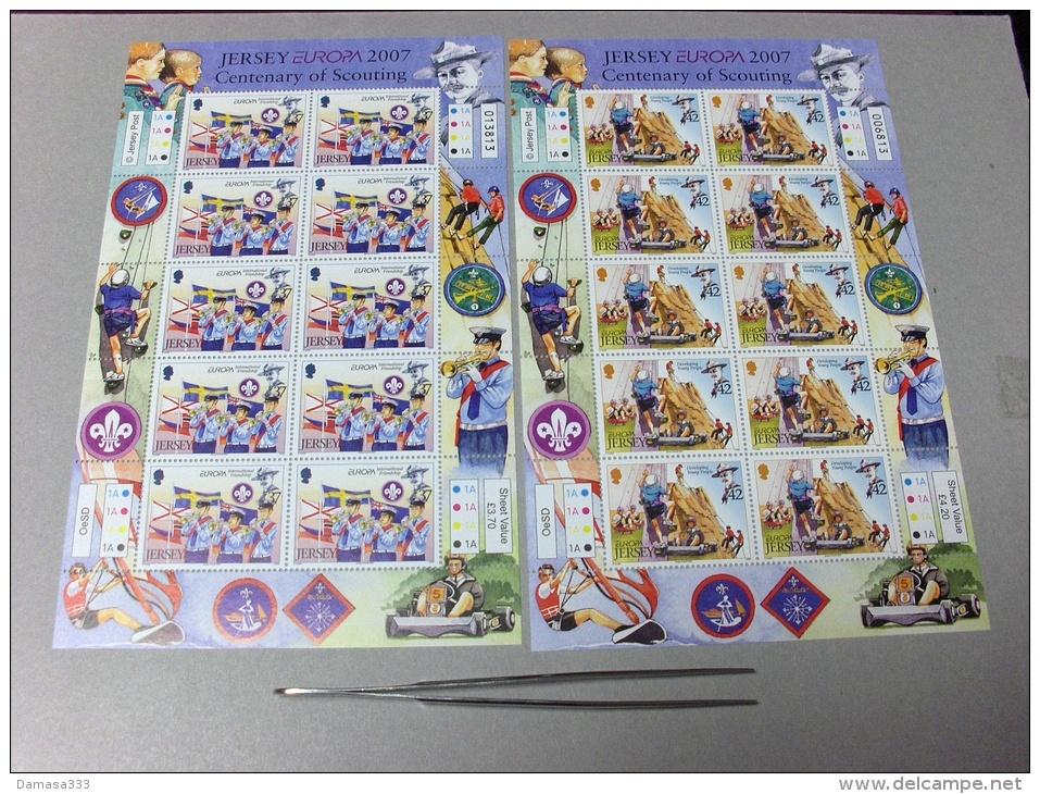 EUROPA CEPT 2007 JERSEY FOGLIETTI / SHEETS MNH - Europa-CEPT