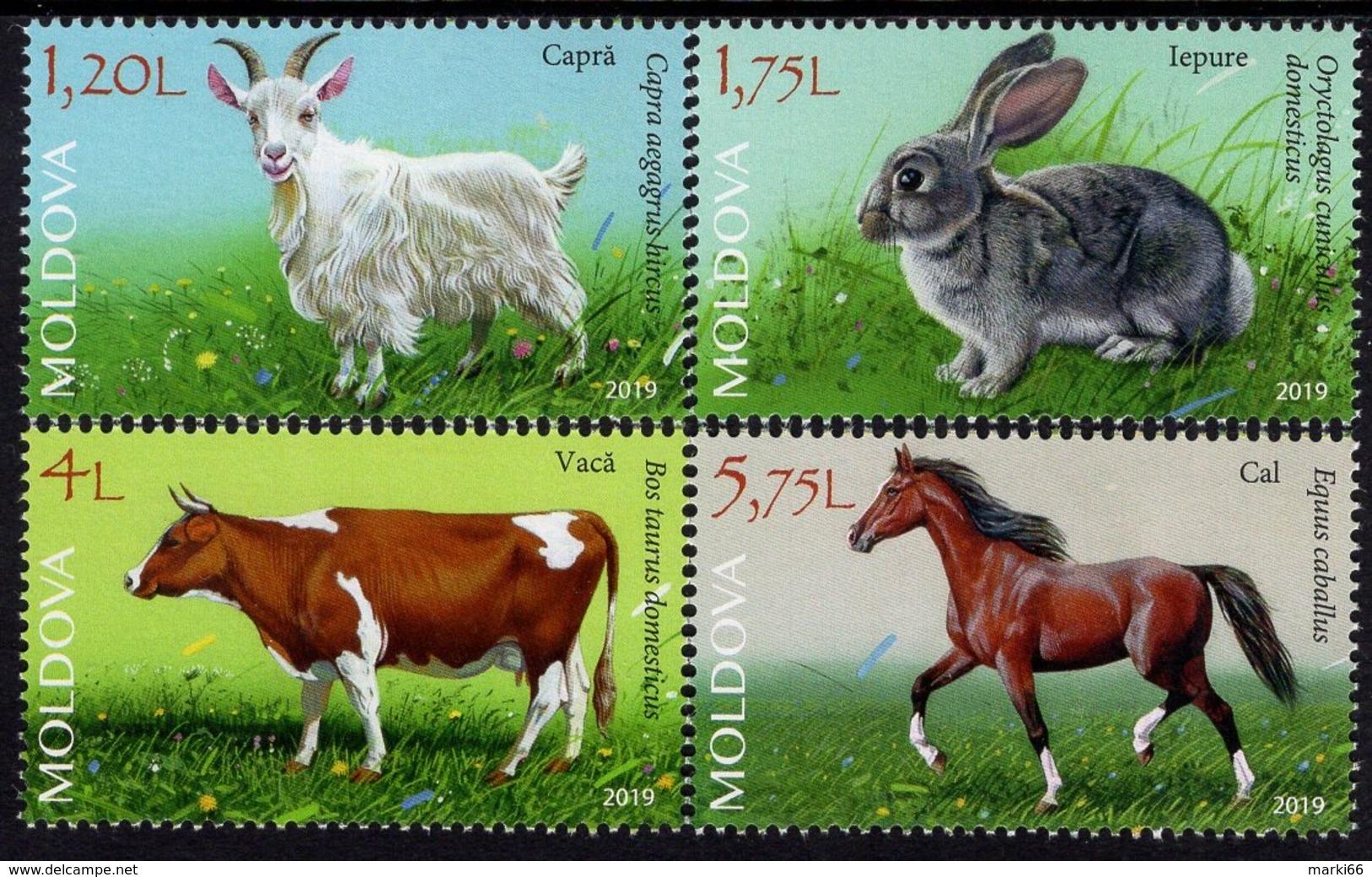 Moldova - 2019 - Domestic Animals - Mint Stamp Set - Moldavia