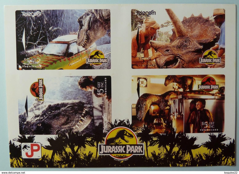 NEW ZEALAND - GPT Set Of 4 - Jurassic Park - NZ-A-21/24 - MINT In Folder - New Zealand