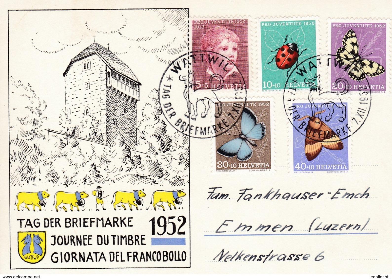Tag Der Briefmarke Wattwil 1952 Mit Zu: J143-147 / Mi: 575-579 - Pro Juventute
