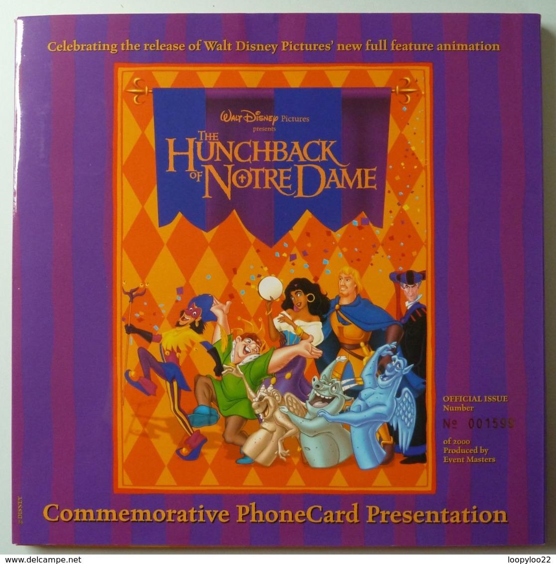 New Zealand - GPT - Walt Disney - Hunchback Of Notre Dame - $5 - 2000 Ex - Collector Folder - Mint - Nouvelle-Zélande