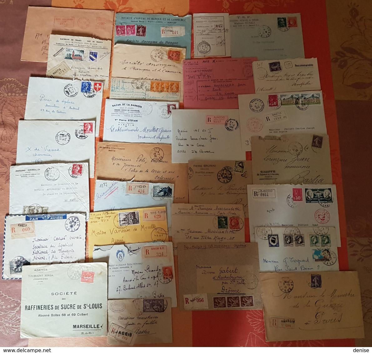 France - CORSE - Lot De 66 Lettres - Différents Bureaux - MISE A PRIX 1 EURO - 1921-1960: Moderne