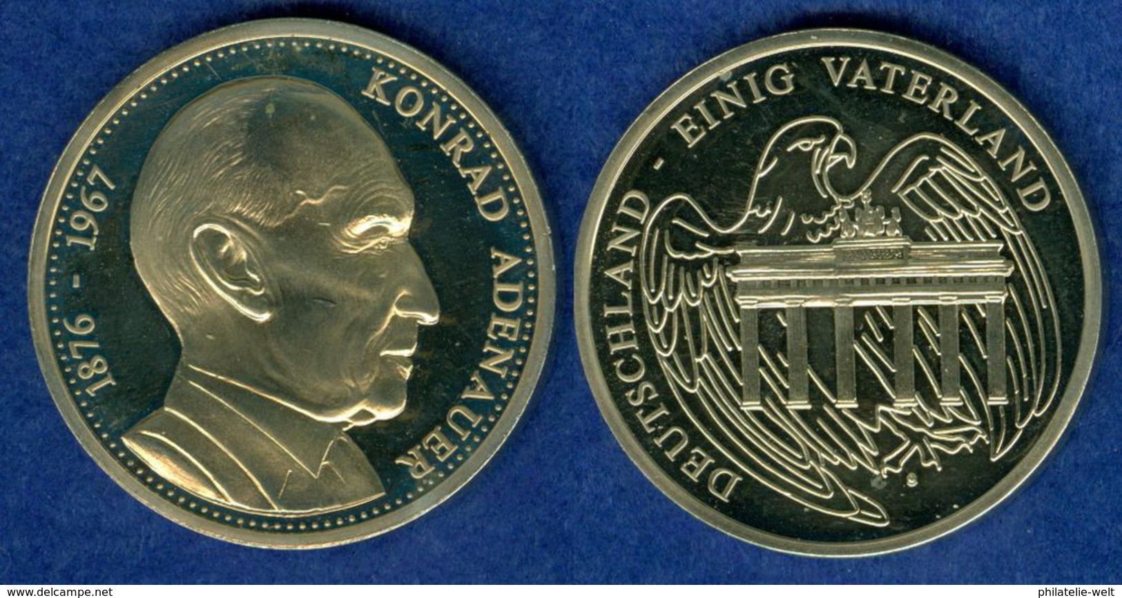 Medaille Konrad Adenauer 40mm PP - [ 7] 1949-…: BRD