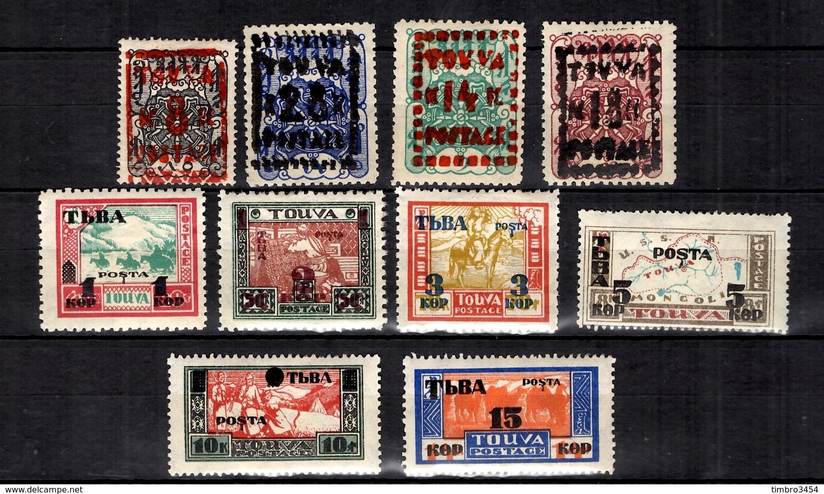 Russie/Touva YT N° 11/14 Et N° 29/34 Neufs *. B/TB. A Saisir! - Touva