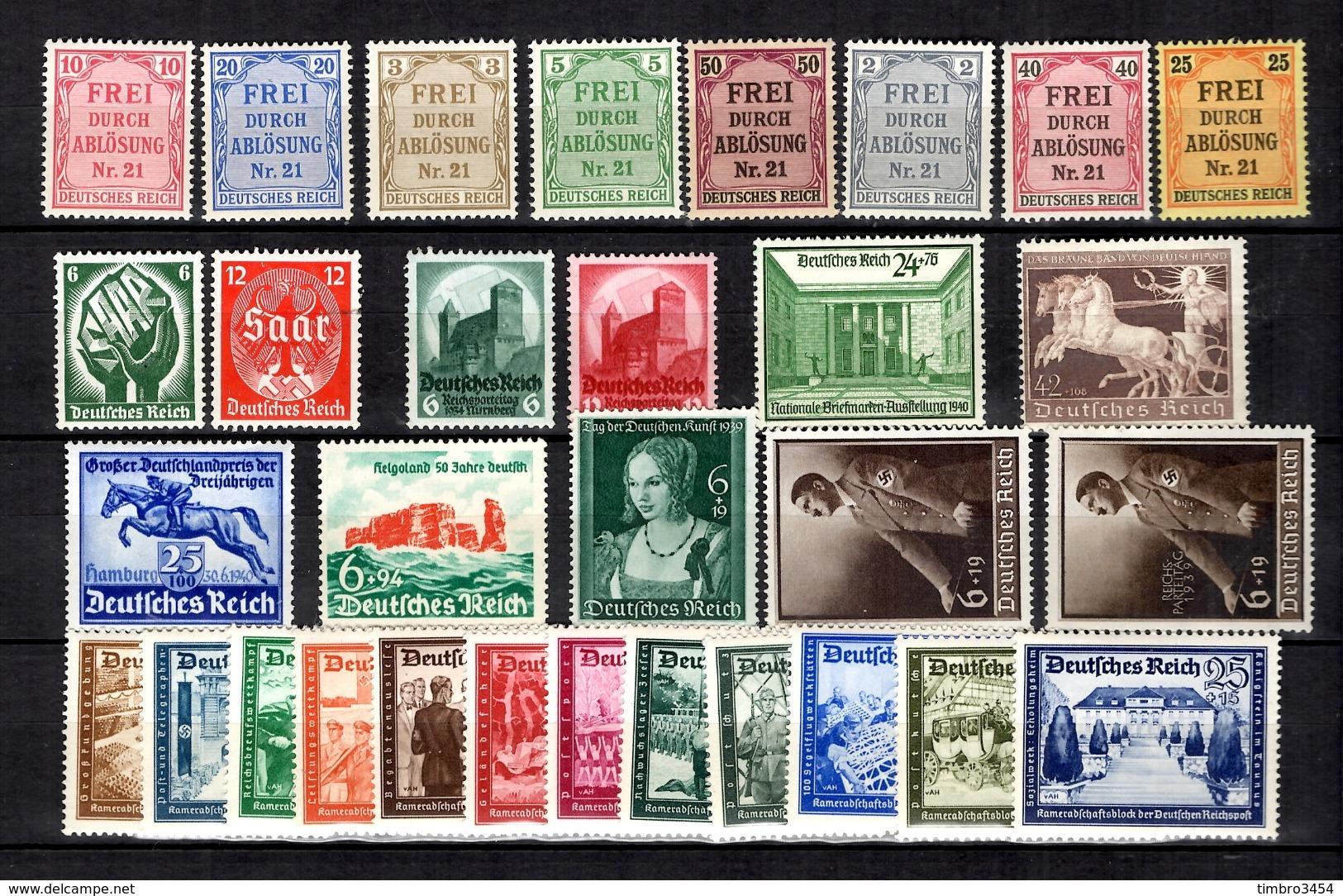 Allemagne/Reich Belle Petite Collection Neufs ** MNH 1903/1940. Bonnes Valeurs. TB. A Saisir! - Allemagne