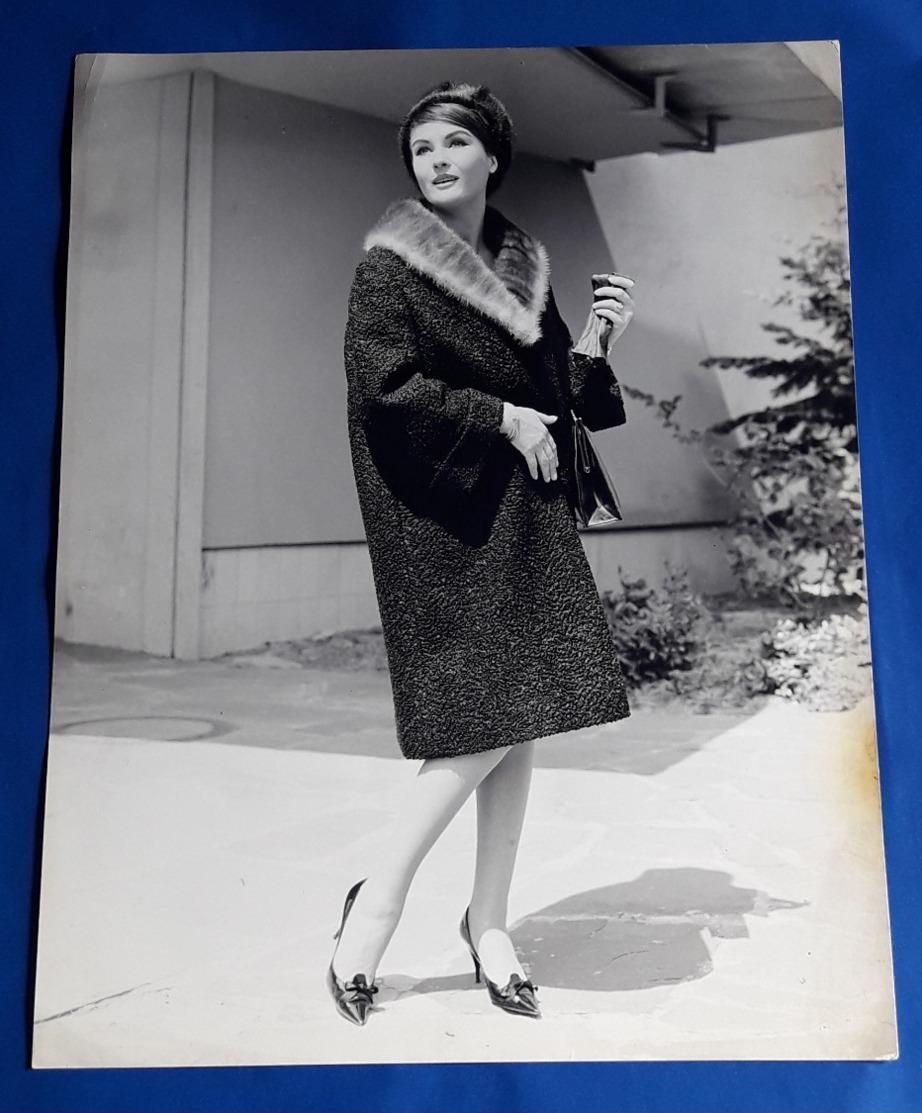 Vintage MODE/FASHION MODEL Photo, Ca. 23,5 X 30 Cm, Portrait Einer Hübschen Frau, Jolie Femme, Pretty Woman [19-1466] - Pin-Ups