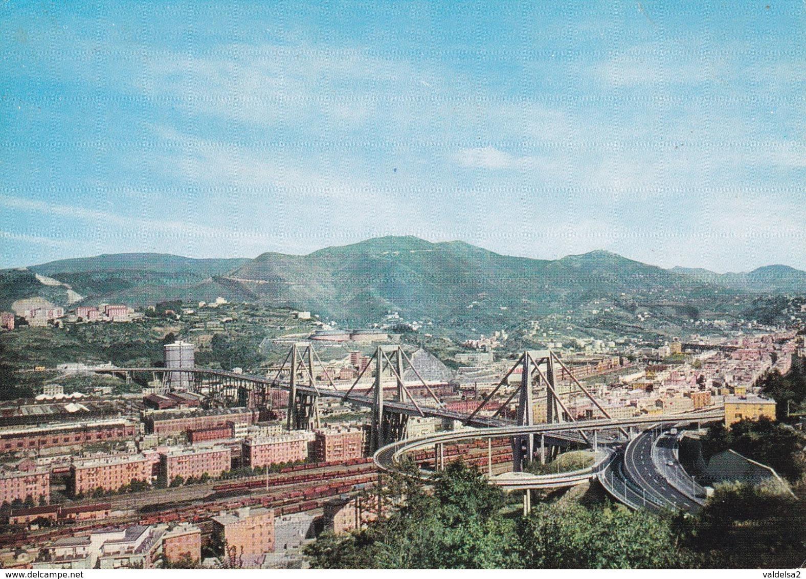 GENOVA - VIADOTTO SUL POLCEVERA - PONTE MORANDI - LUNGHEZZA MT. 1102 - CAMPATA MAGGIORE MT.208 - AUTOSTRADA - Genova (Genoa)