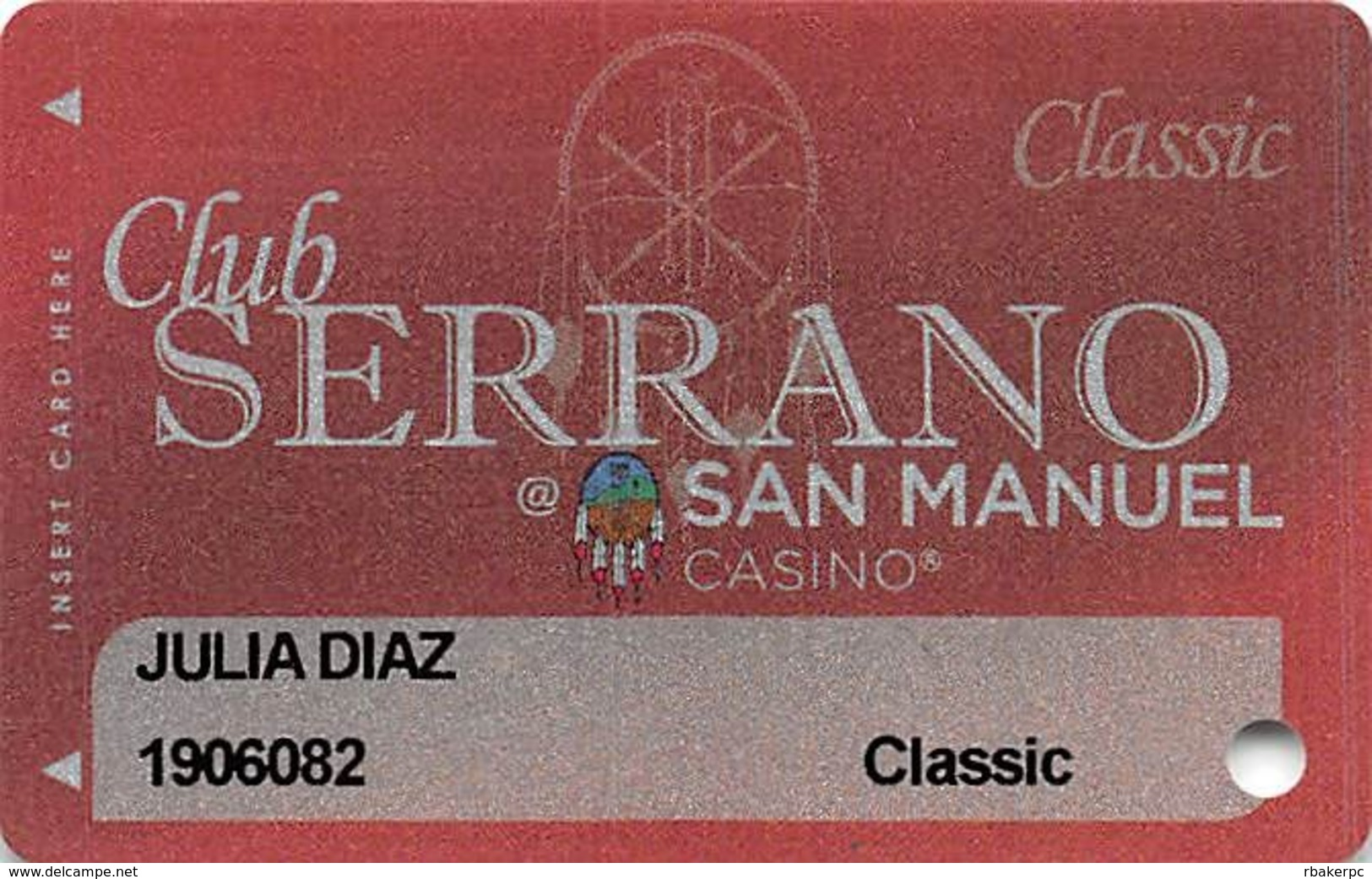 San Manuel Casino - Highland, CA - Slot Card - Casino Cards