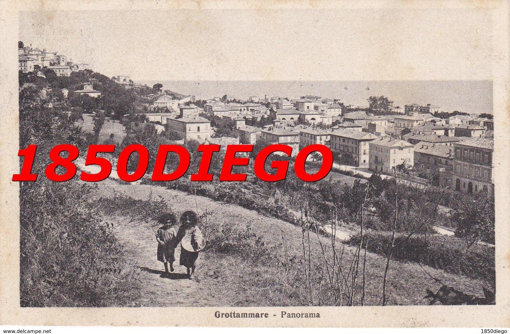 GROTTAMMARE - PANORAMA F/PICCOLO VIAGGIATA ANIMAZIONE - Ascoli Piceno