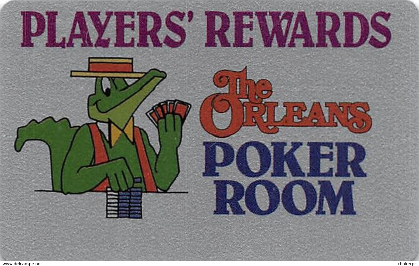 The Orleans Casino - Las Vegas, NV - BLANK Poker Room Slot Card - Casino Cards