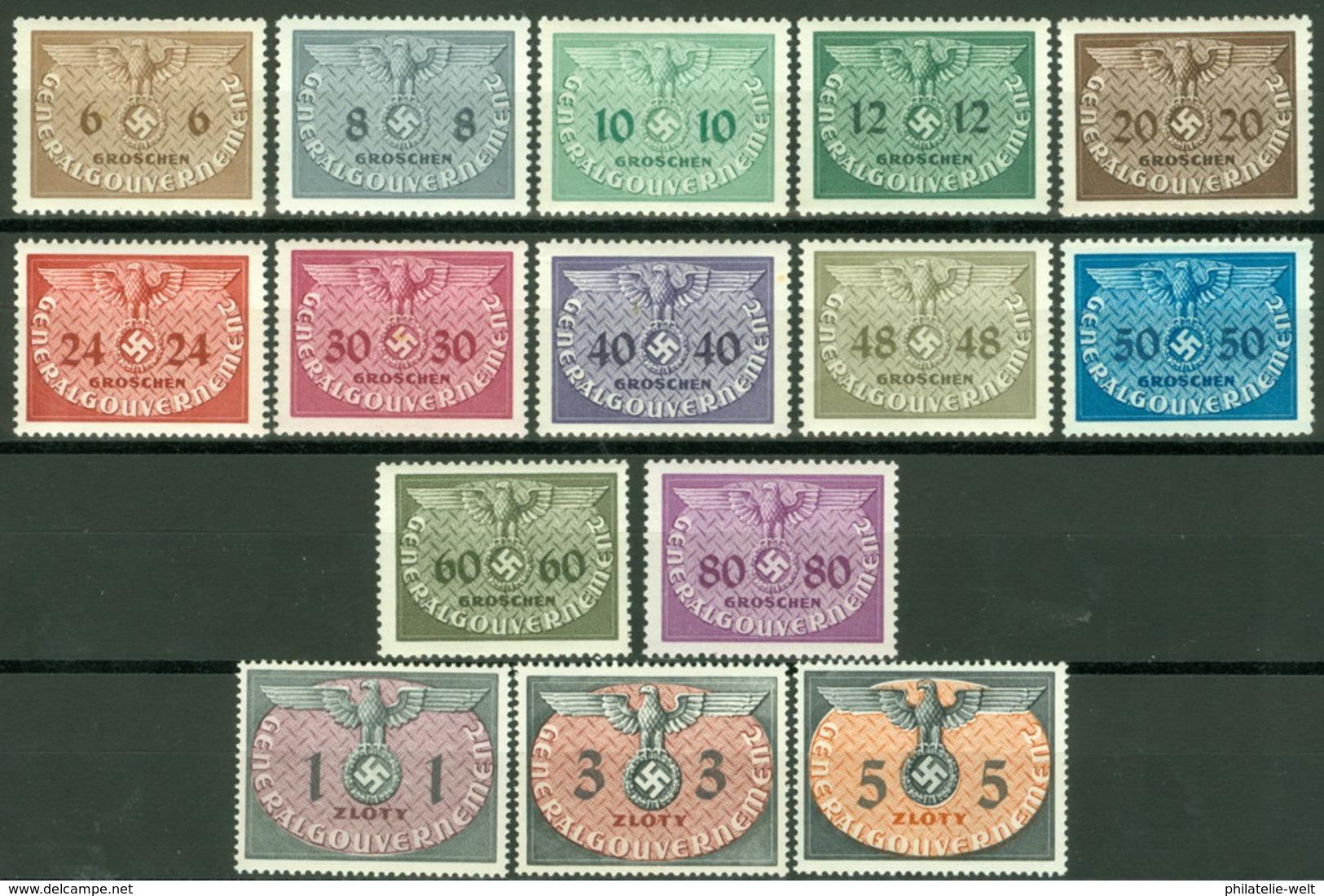 Generalgouvernement Dienst 1/15 ** Postfrisch - 1939-44: 2. WK