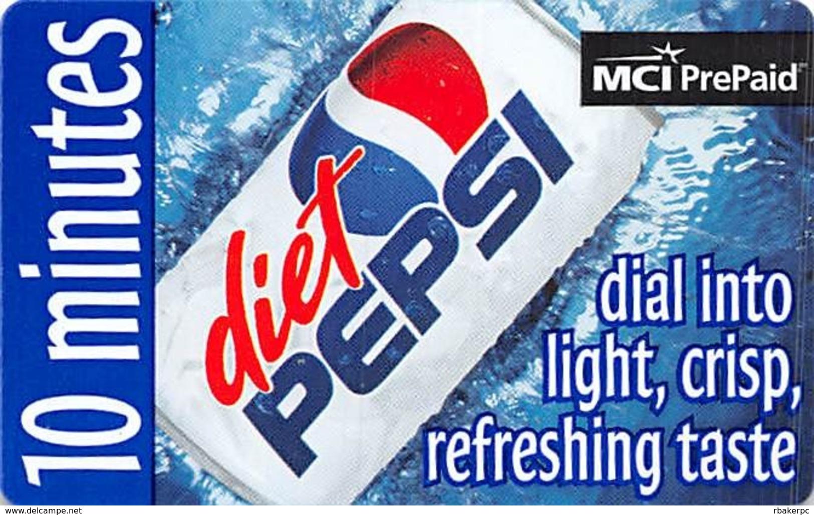 Diet Pepsi / MCI PrePaid Phone Card 10 Minutes - Advertising