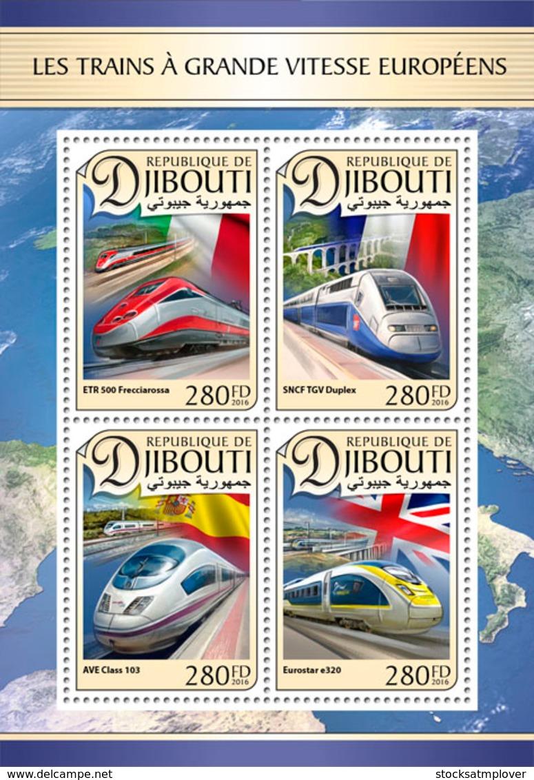 Djibouti  2016  European Speed Trains - Djibouti (1977-...)