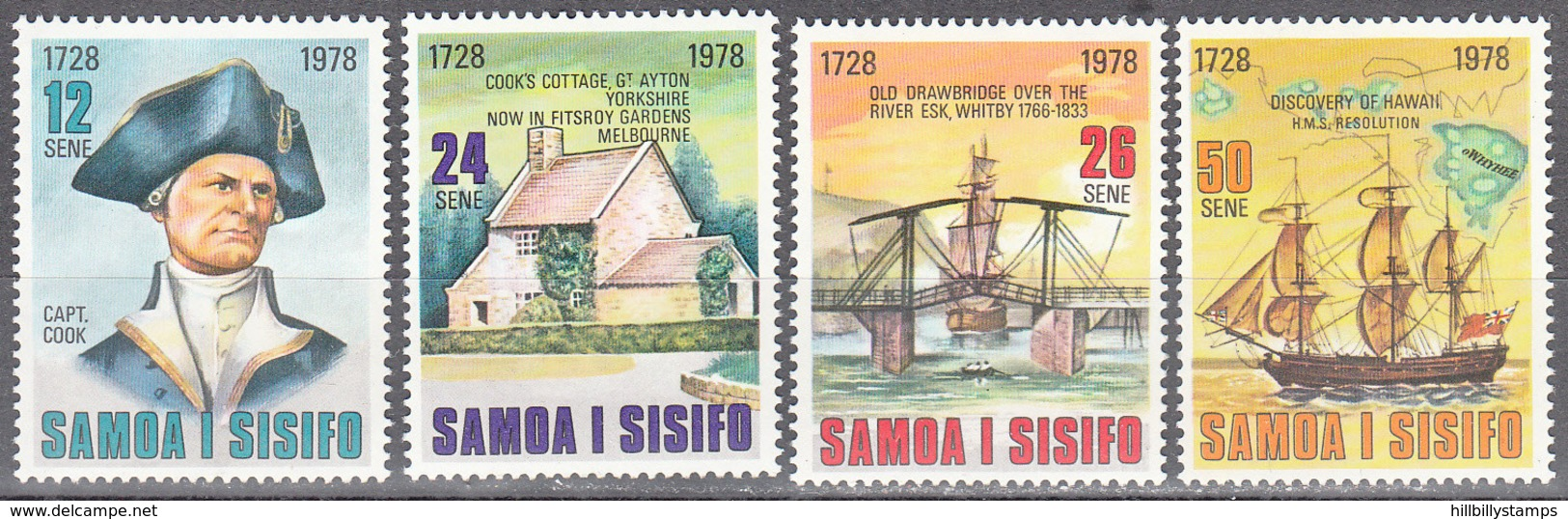 SAMOA    SCOTT NO. 474-77   MINT HINGED     YEAR  1978 - Samoa