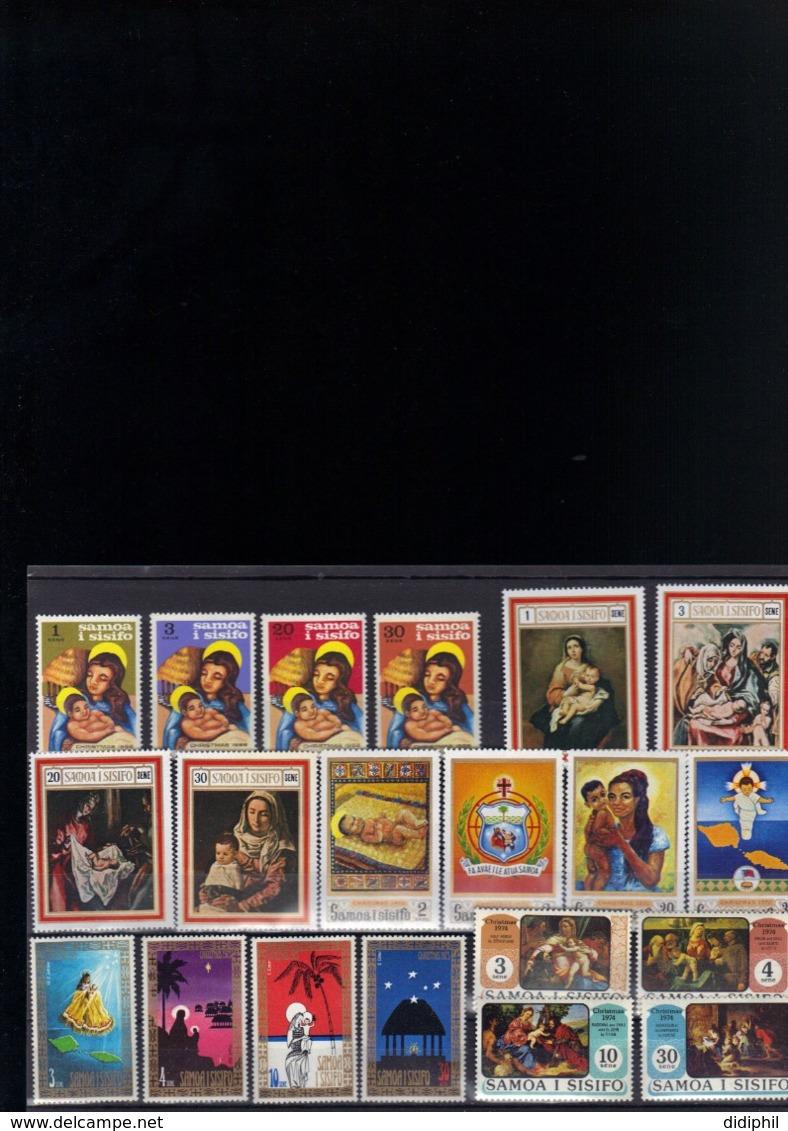 SAMOA 237/40 +254/57 +270/73 +328/31 +345/48 TOUS EN ** SUR LES NOEL 1968 1969 1970 1973 ET 1974 - Samoa