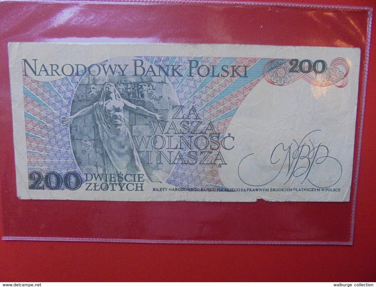 POLOGNE 200 ZLOTY 1988 CIRCULER (B.7) - Pologne