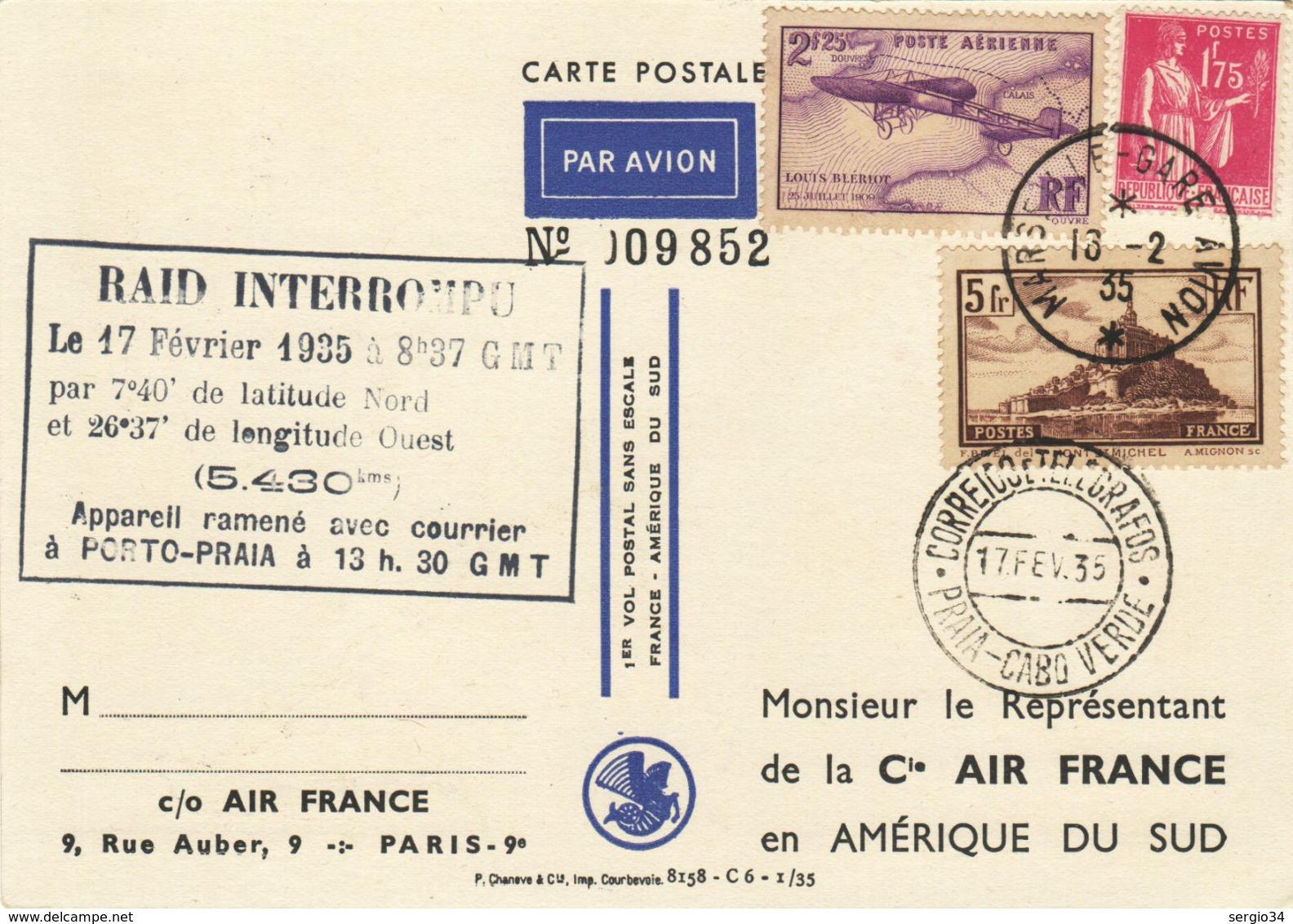 Francia-Primo Volo Come Da Foto - Poste Aérienne