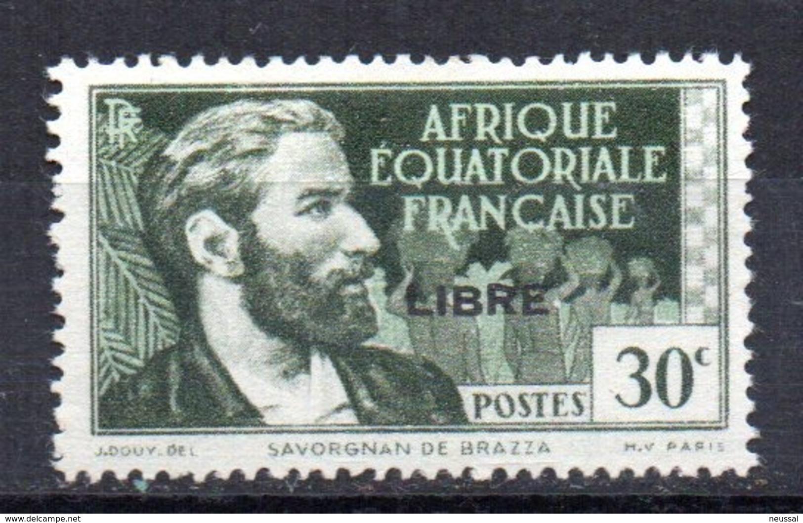 Sello Nº 128 Africa Ecuatorial Francesa.- - A.E.F. (1936-1958)
