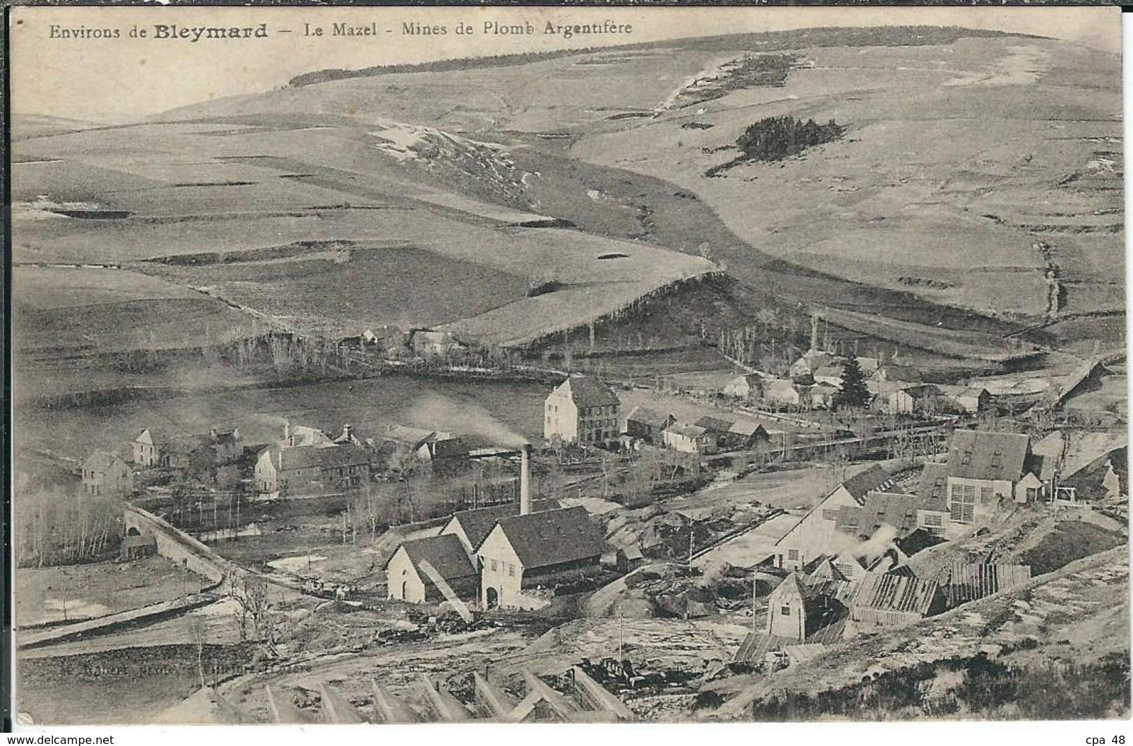 Lozere : Le Mazel, (environs Du Bleymard), Mines De Plomb Argentifère... - Le Bleymard