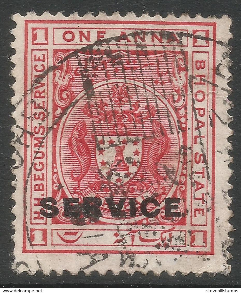 Bhopal(India). 1908-11 Official. 1a Used SG O302 - Bhopal