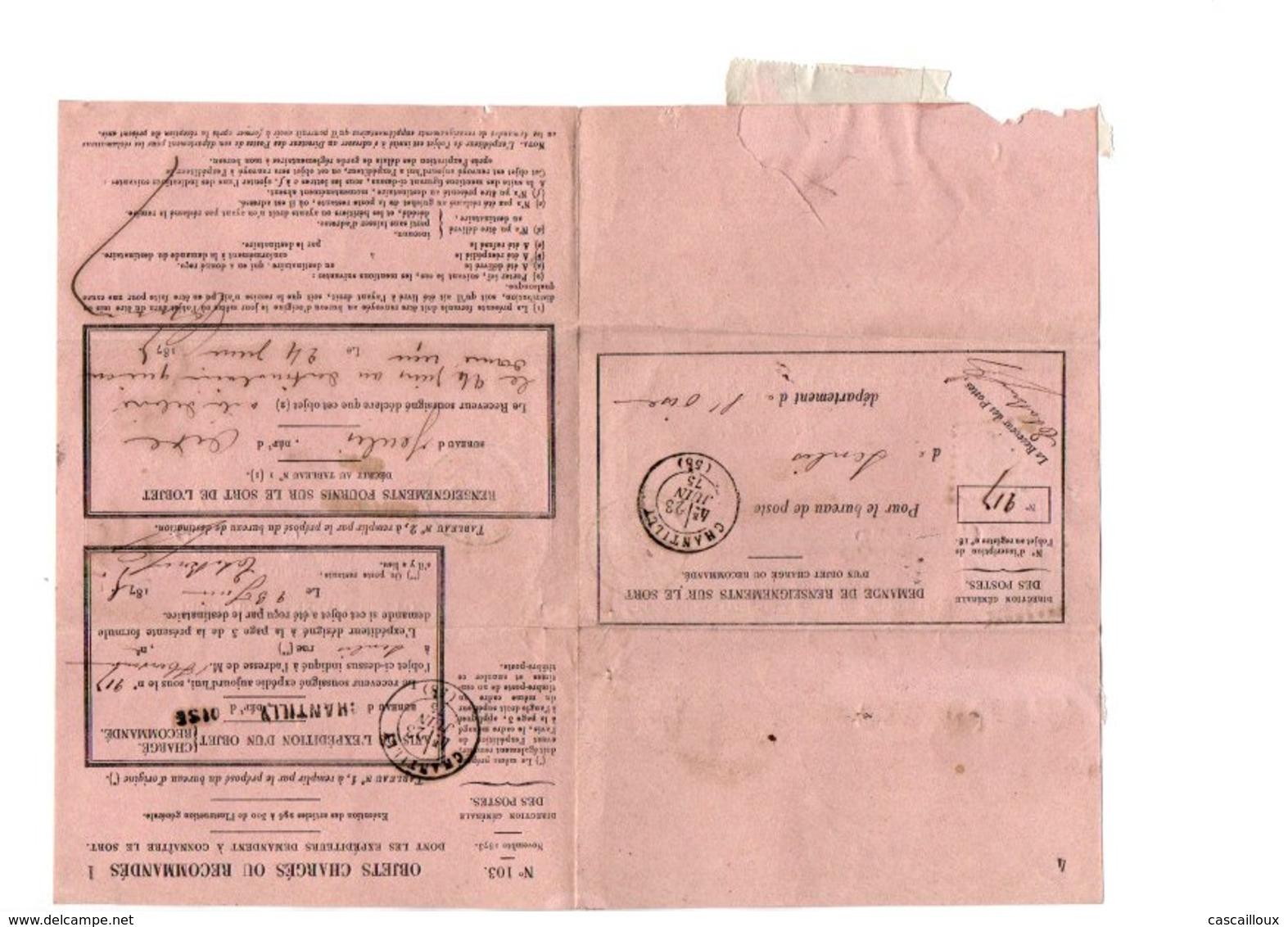 Timbres N 54 Sur Enveloppe - 1871-1875 Cérès