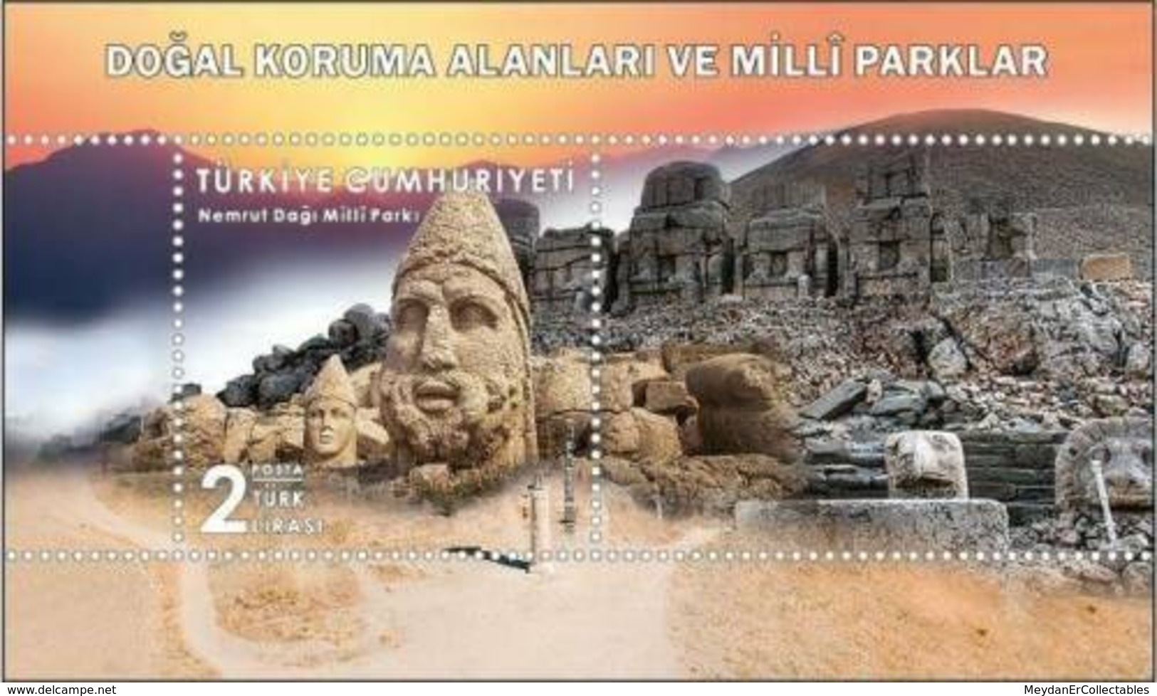 TURKEY/2019 - NATURAL CON. AREAS AND NATIONAL PARKS-2 (Adiyaman, Antiques), MNH - Nuevos