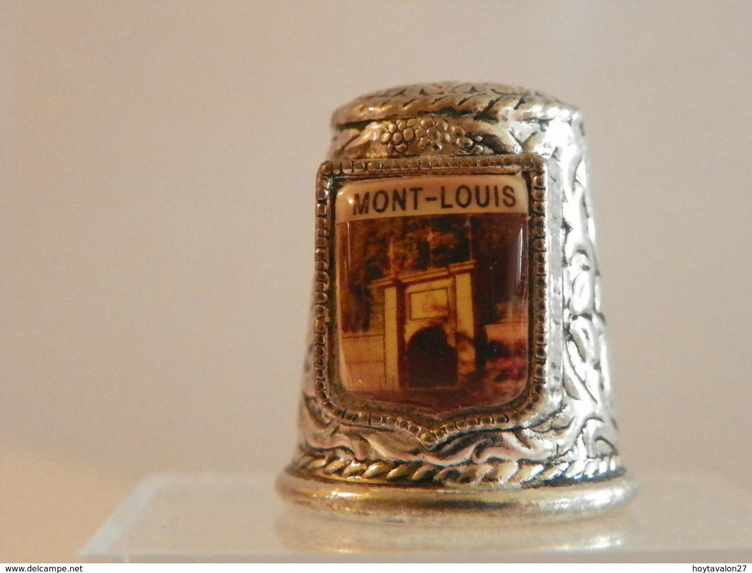 """Dé A Coudre En Métal """" Mont Louis"""" - Ditali Da Cucito"""