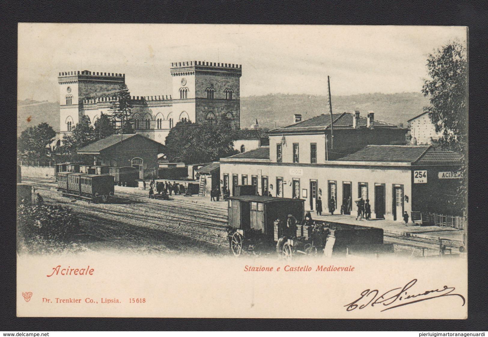 16518 Acireale - Stazione E Castello Medioevale R - Acireale