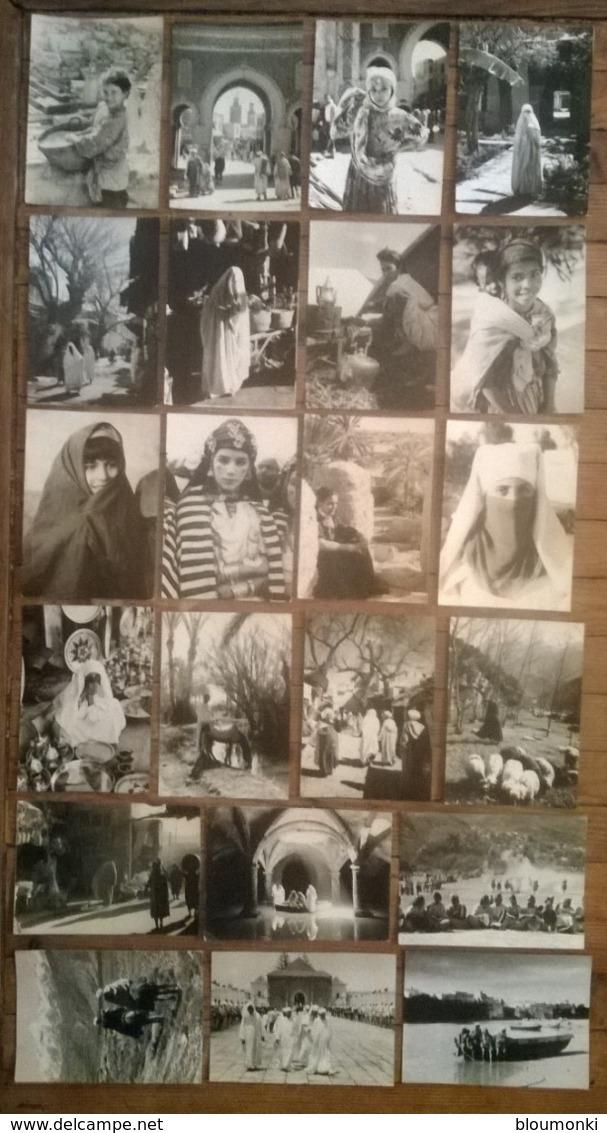 Lot De 22 Cartes Postales / VISAGE PHOTOGRAPHIQUE DU MAROC N&B - Non Classés