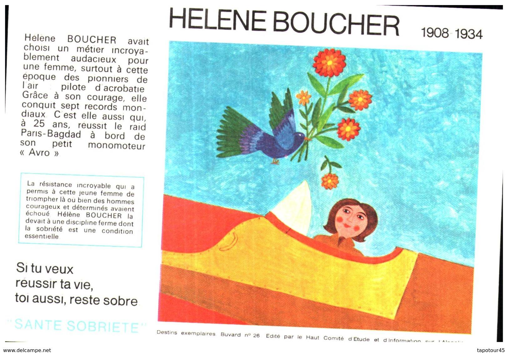 """S S A/Buvard Sécurité Sobriété Info Alcolisme """"Elene Boucher"""" (Santé Sobriété) (N=8) - S"""