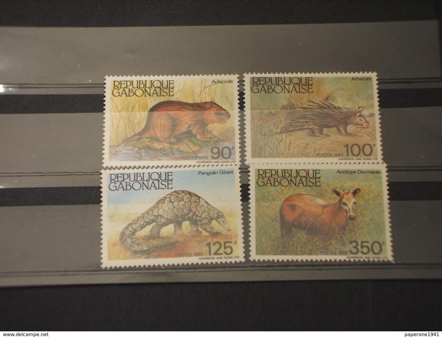 GABON - 1985 FAUNA 4 VALORI - NUOVI(++) - Gabon (1960-...)