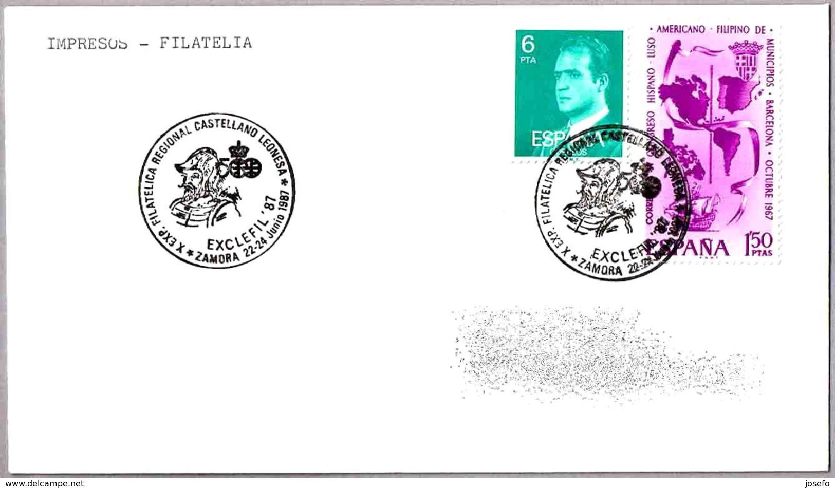 Exp.Filatelica Regional Castellano Leonesa. EXCLEFIL'87. Zamora 1987 - 1931-Hoy: 2ª República - ... Juan Carlos I