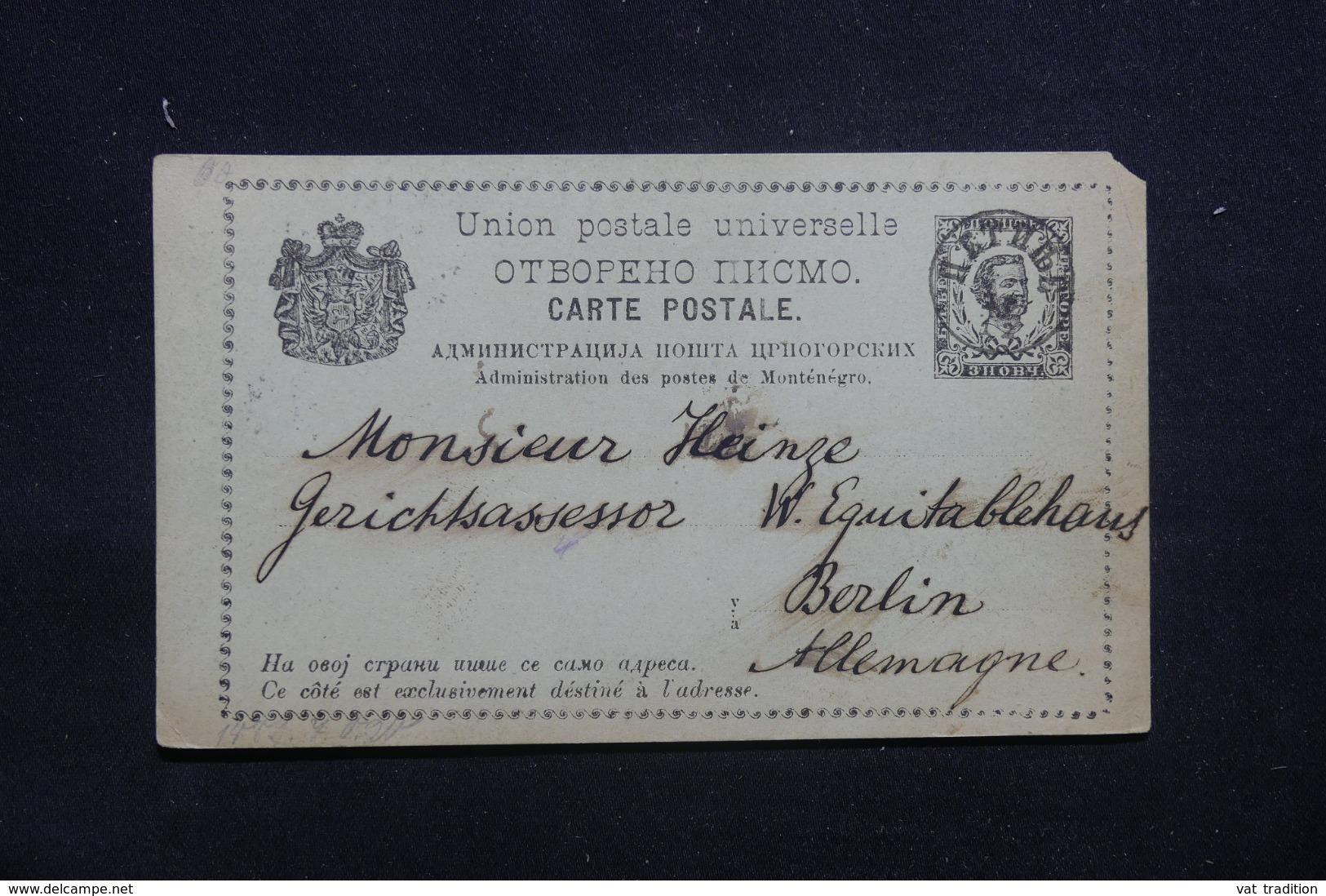 MONTÉNÉGRO - Entier Postal Pour L 'Allemagne - L 42330 - Montenegro