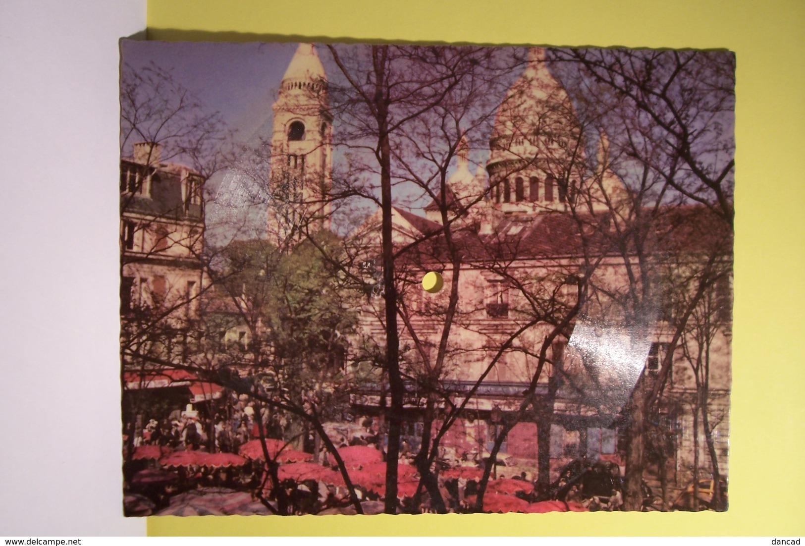 PARIS - MONTMARTRE   - LA CARTE MUSICALE - PHONOSCOPE -  ( Titre : Tu N'a Pas Très Bon Caractère )  Disque 45 Tours - Formats Spéciaux