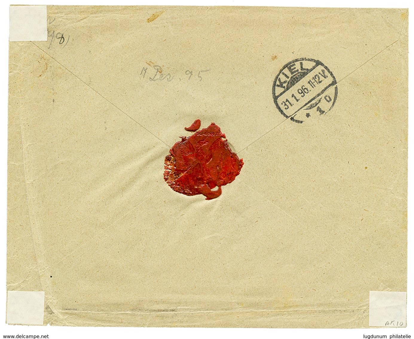 """SAMOA - DAVIS POST"" : 1896 2d(x2)+ 2 1/2d(x2) Canc. APIA On Envelope To GERMANY. Superb. - Samoa"
