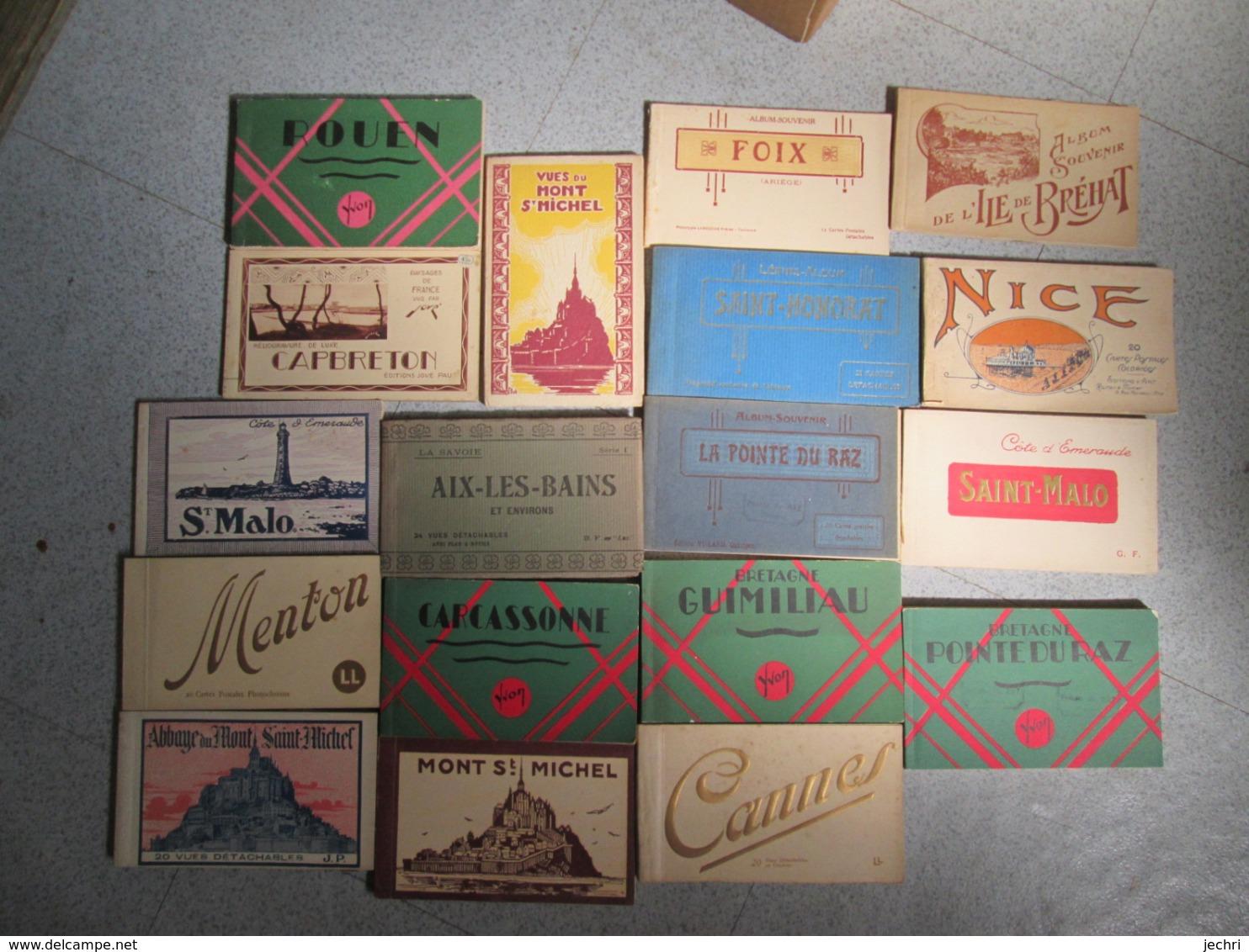 Lot De 180 Carnets De Cartes Postales Divers France Et International . Plus De 2500 Cartes .  Ideal Revendeur - Cartes Postales