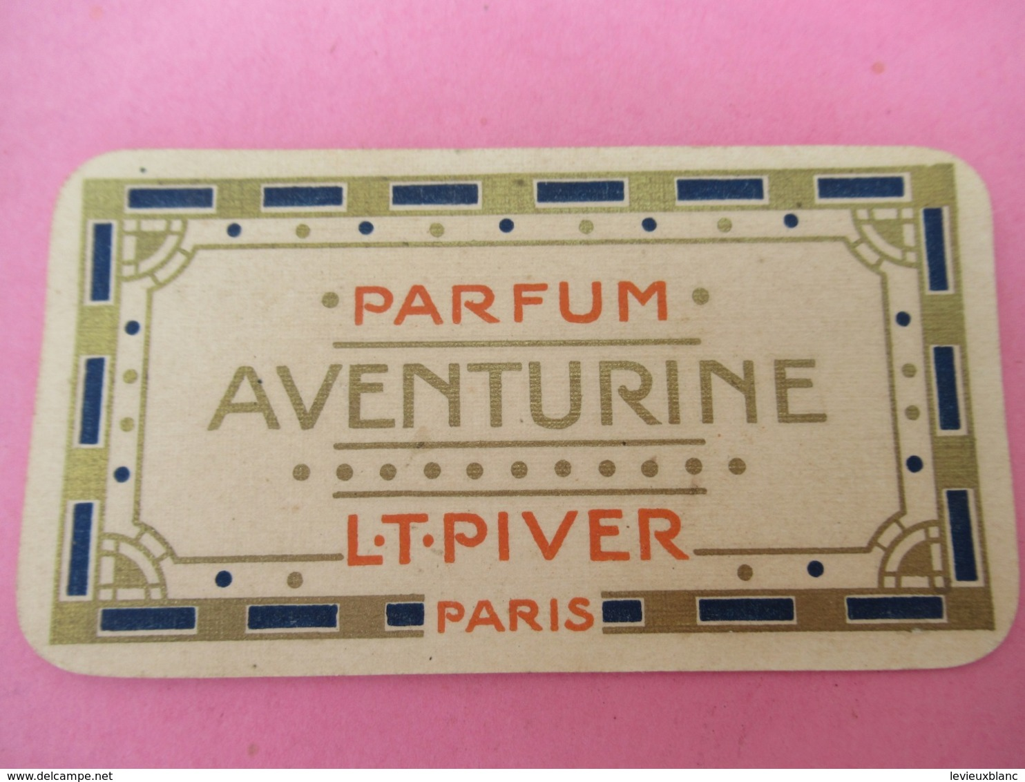 Carte Publicitaire Parfumée/Parfum AVENTURINE/ L T PIVER, Paris/ Calendrier /1913   PARF201 - Vintage (until 1960)