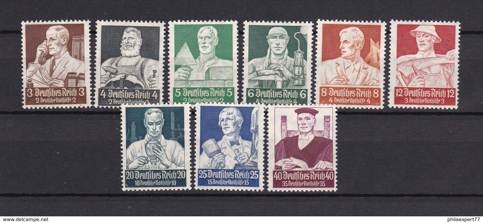 Deutsches Reich - 1934 - Michel Nr. 556/564 - Ungebr.- 100 Euro - Unused Stamps