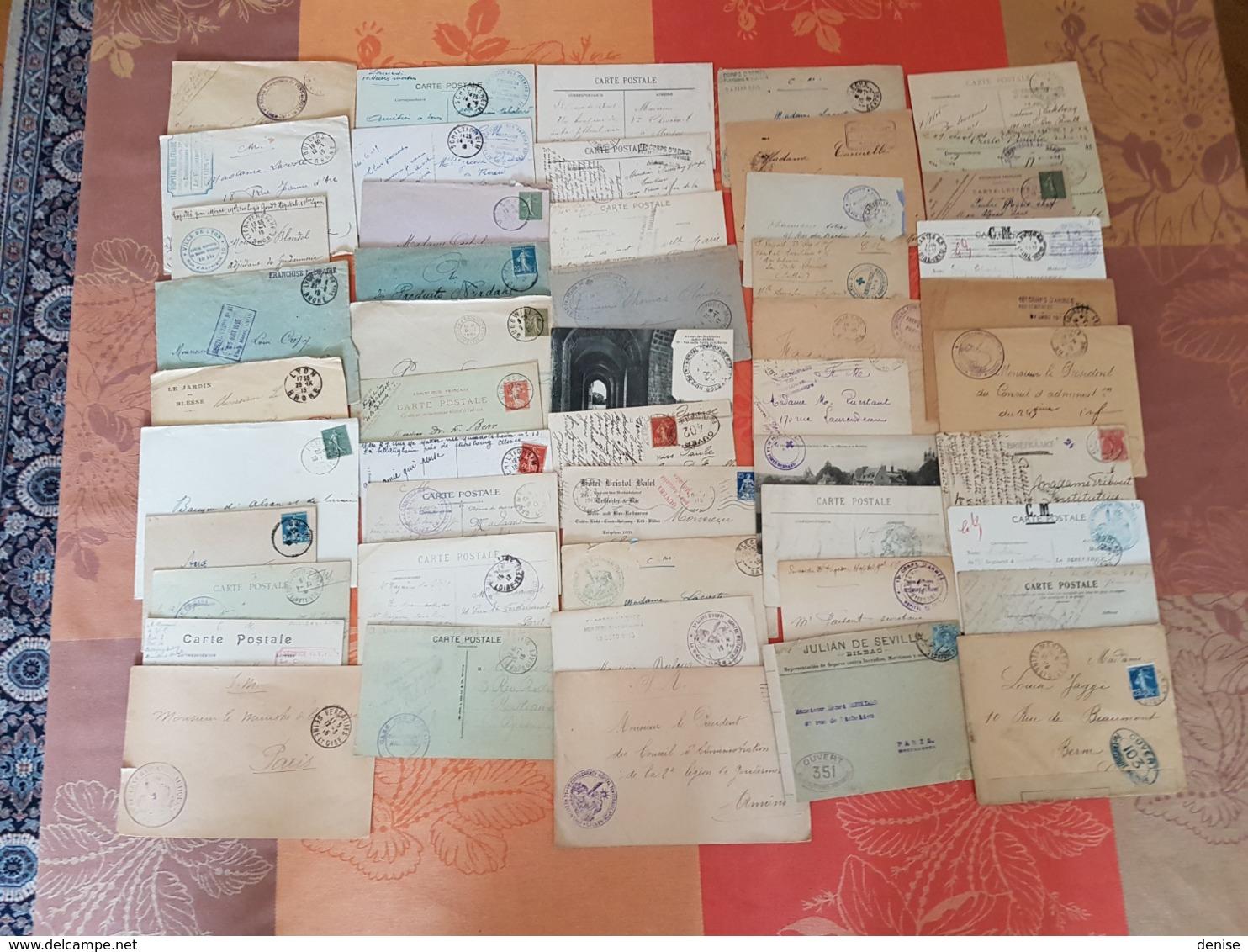 France - Lot De Lettres Et Cartes - Guerre 14-18 - PLUS DE 600 PIECES - DEPART 1 EURO - Guerre De 1914-18
