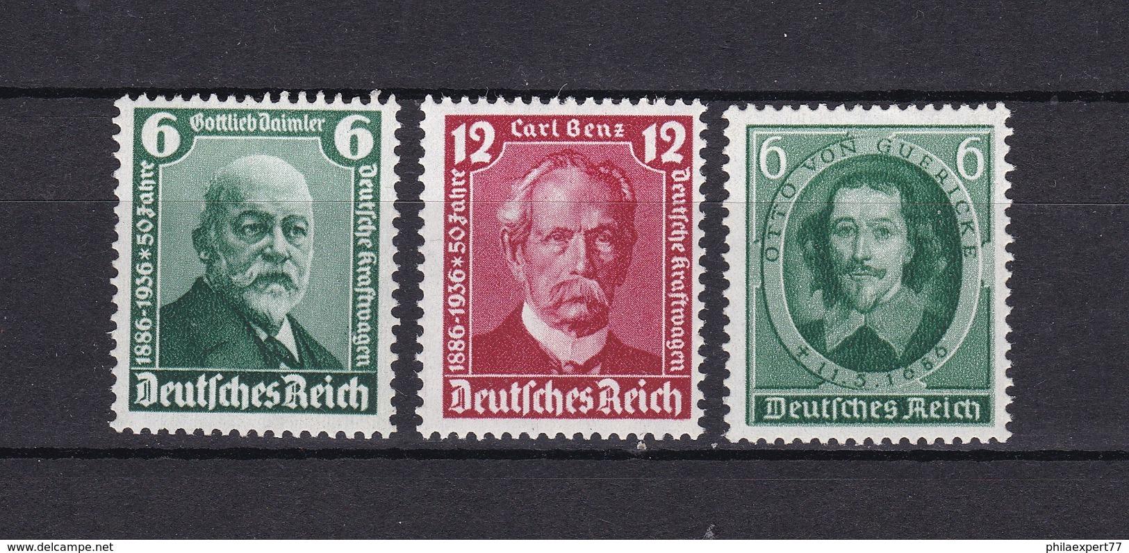 Deutsches Reich - 1936 - Michel Nr. 604/605+608 - Postfrisch - 17 Euro - Germany
