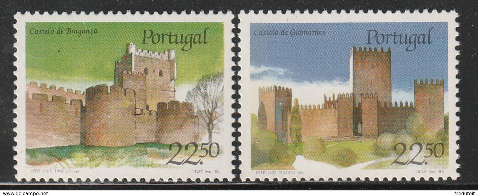 PORTUGAL - N°1665/6 ** (1986) Châteaux  (II) - 1910-... República