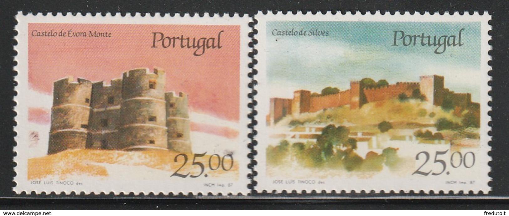 PORTUGAL - N°1685/6 ** (1987) Châteaux  (IV) - 1910-... Republic