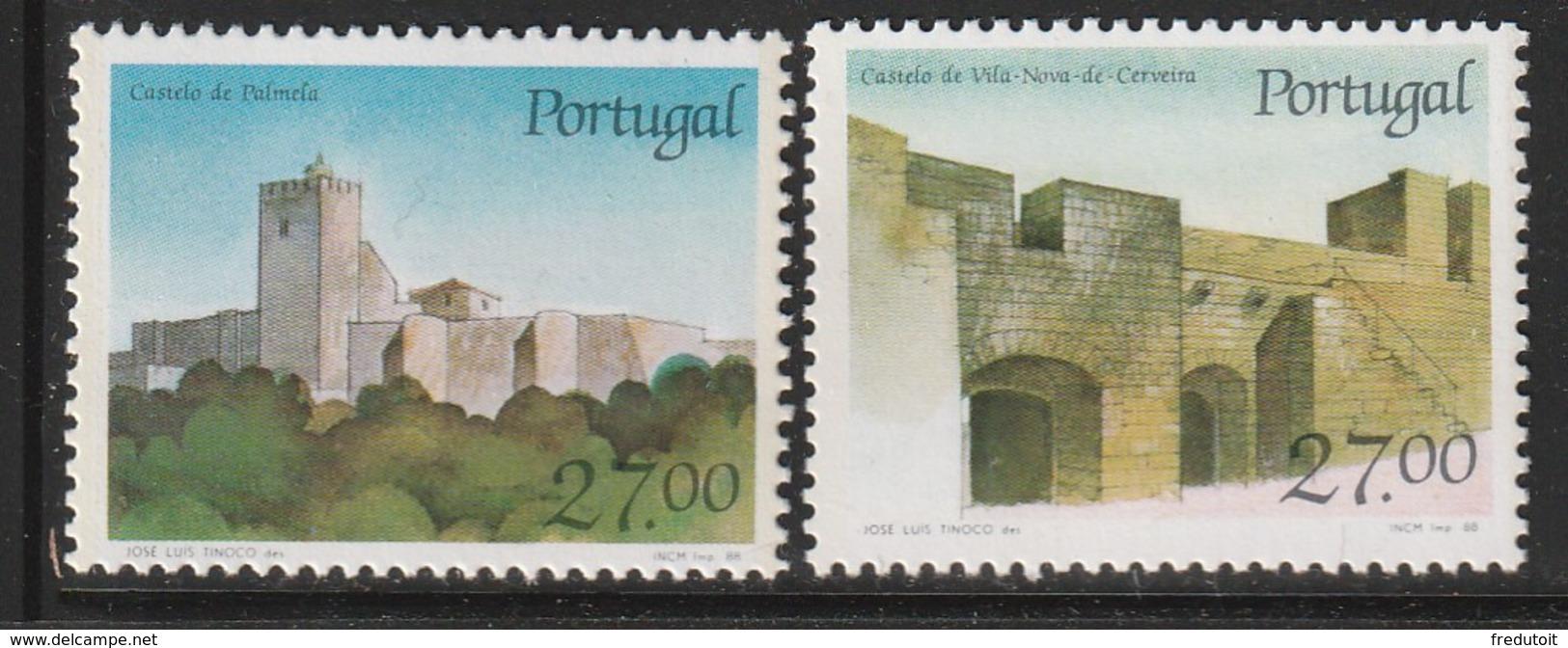 PORTUGAL - N°1729/30 ** (1988) Châteaux  (VIII) - 1910-... Republic