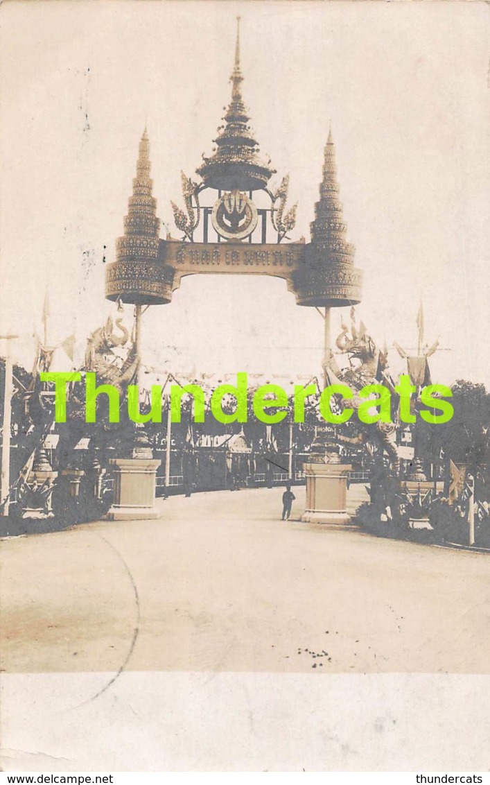 CPA CARTE DE PHOTO SIAM THAILAND TEMPLE REAL PHOTO POSTCARD - Thaïlande