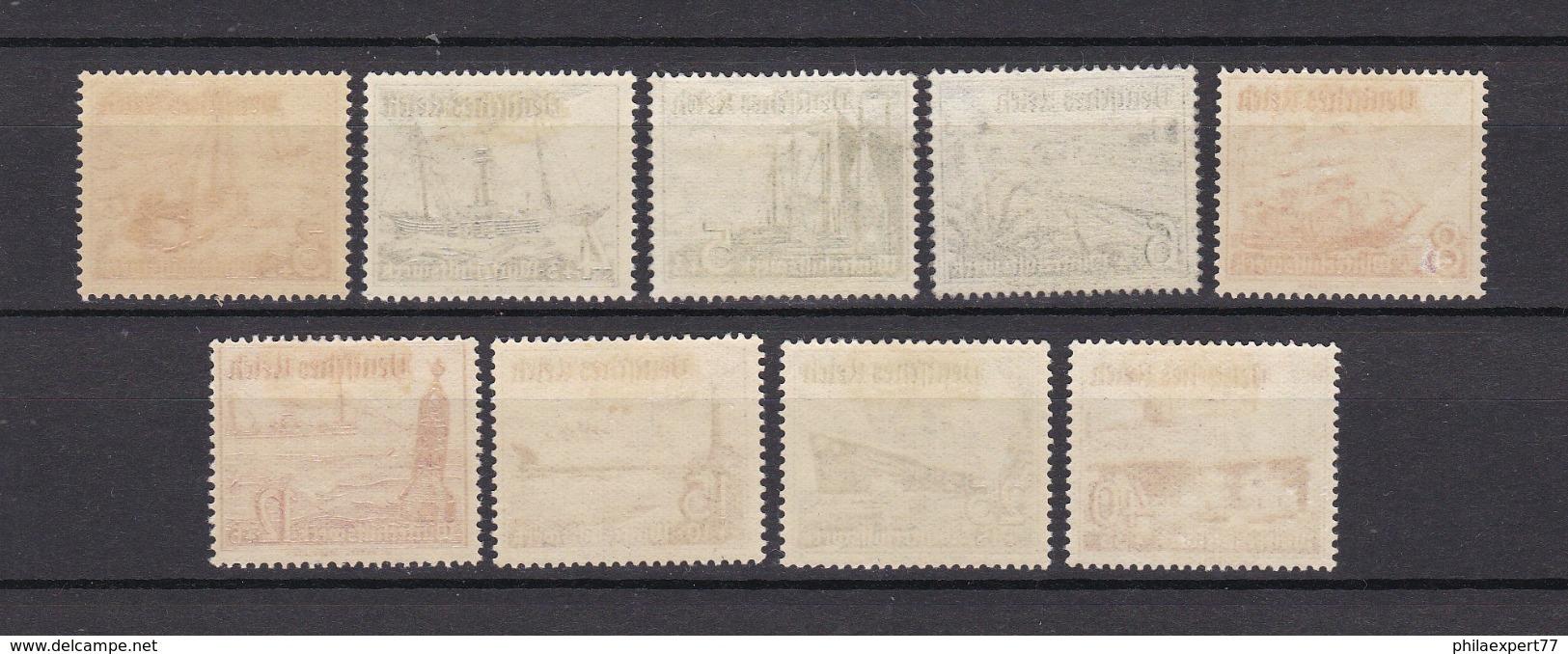 Deutsches Reich - 1937 - Michel Nr. 651/659 - Ungebr./Postfrisch - Germany