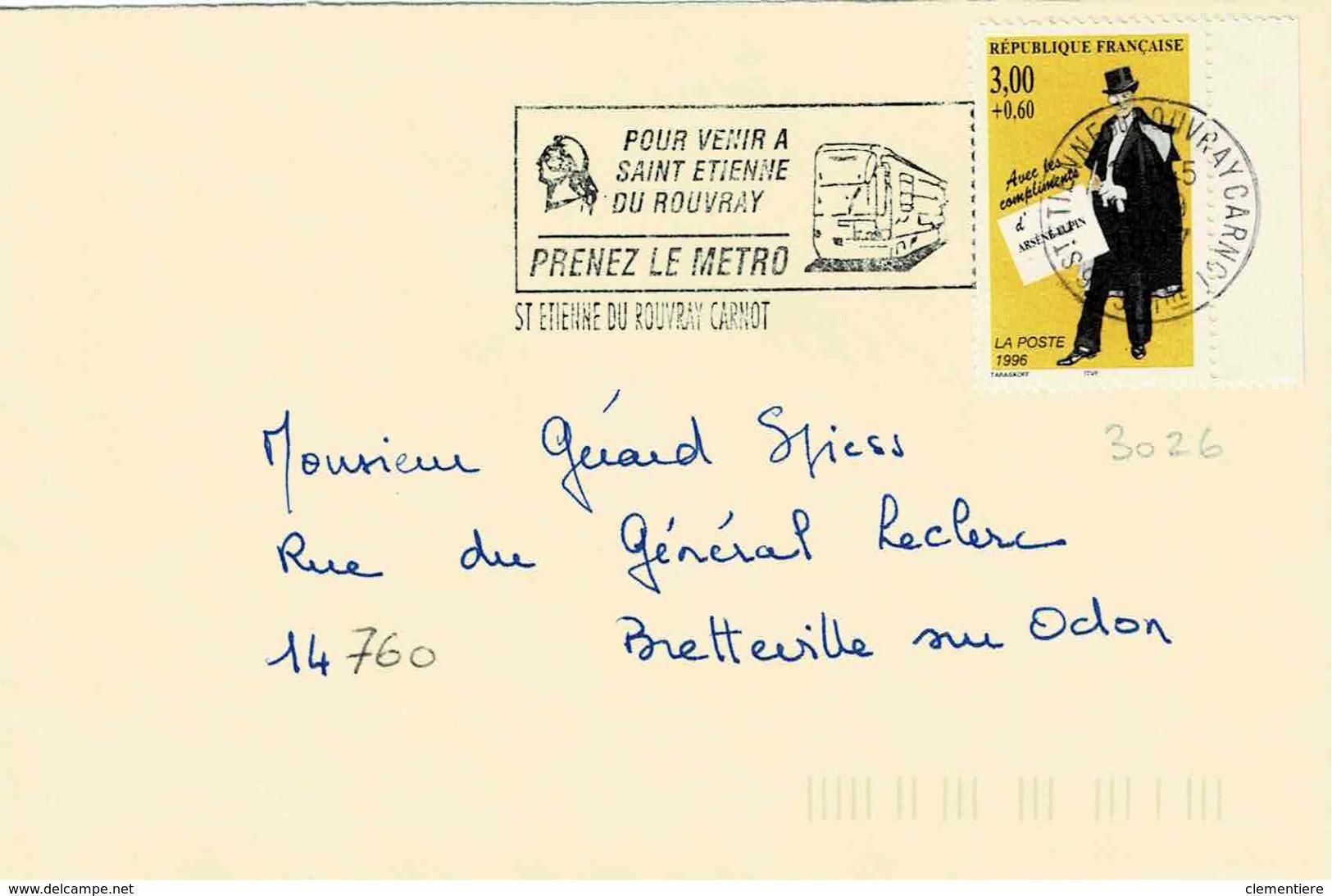 TP N ° 3026 Seul  Sur Enveloppe De  St Etienne - Marcophilie (Lettres)
