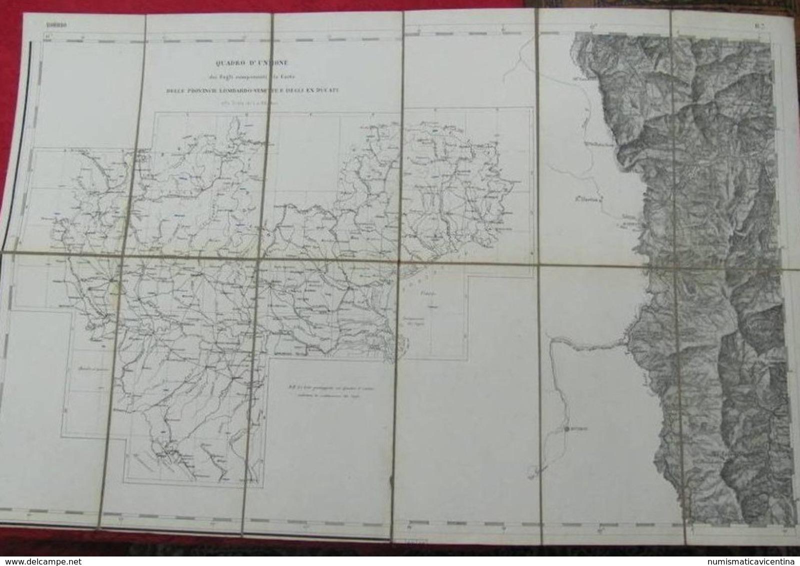BOBBIO Piacenza Mappa Telata Carta Geografica Fine '800 Cartes Géographiques Geographic Maps - Carte Geographique