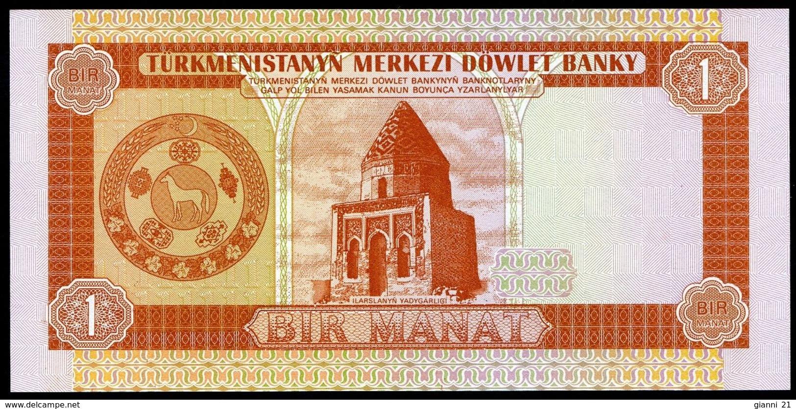 Turkmenistan 5 Manat 1993 UNC Asian banknotes P-2