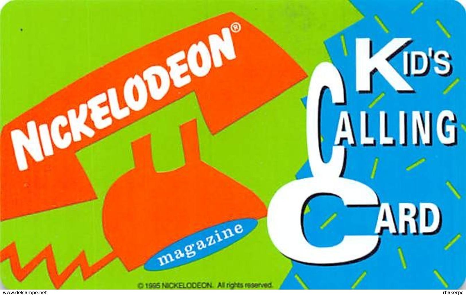 Nickelodeon Kid's Calling Card - Phonecards